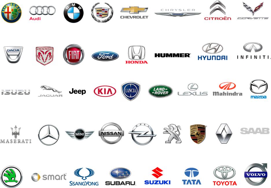 Marcas coches Virtualrec App